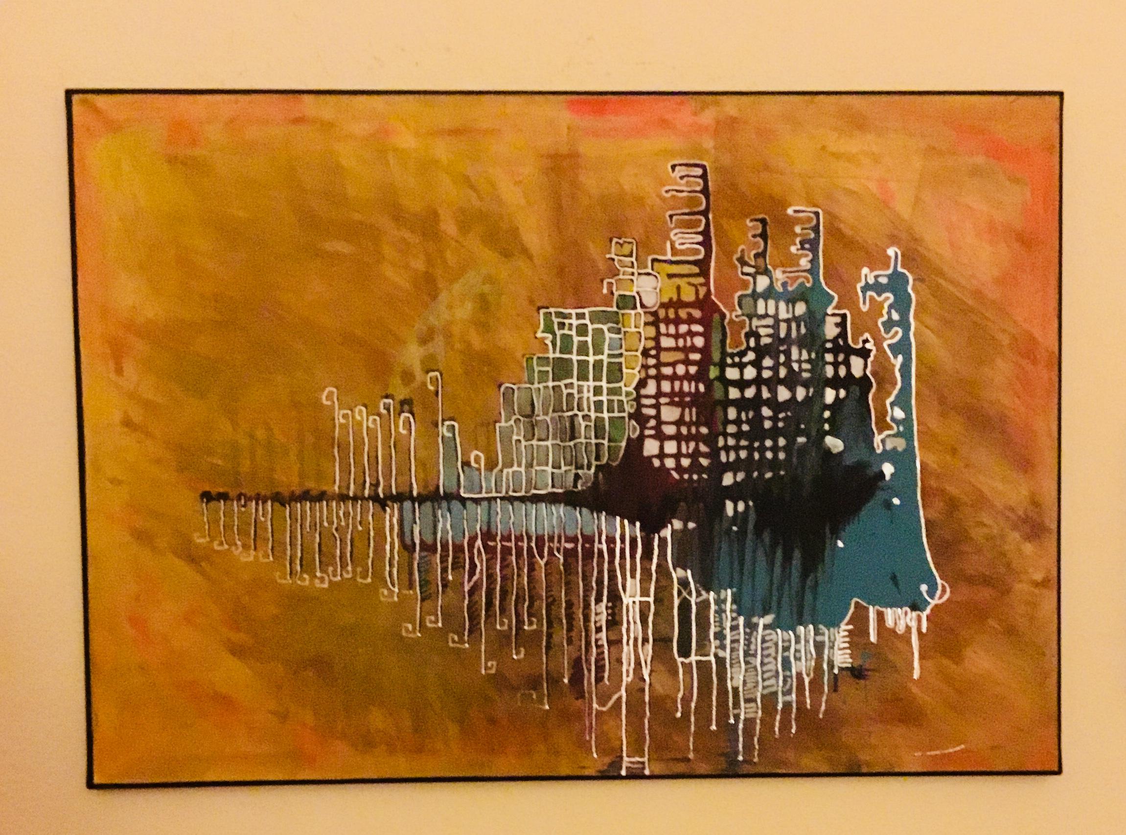 Arena Acryl on Canvas 100 x 70 cm