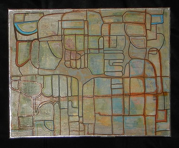 Sanftes Gleiten Acryl on Canvas 50 x 40 cm
