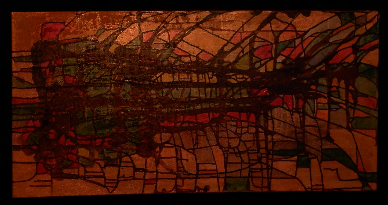 Golden Dream Acryl on Canvas 100 x 50 cm