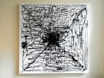 Black Sekret on Canvas 90 x 90 cm